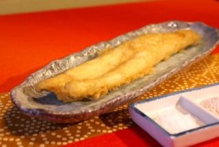 穴子の天ぷら(塩)